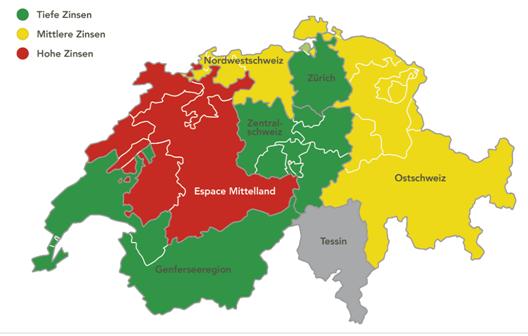 Regionale Zinsunterschiede