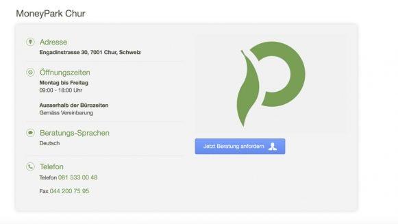 MoneyPark wächst weiter und eröffnet in Chur die 26. Filiale