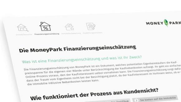 Die MoneyPark Finanzierungseinschätzung
