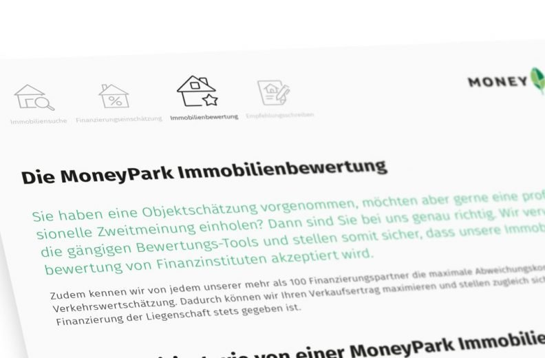 Die MoneyPark Immobilienbewertung