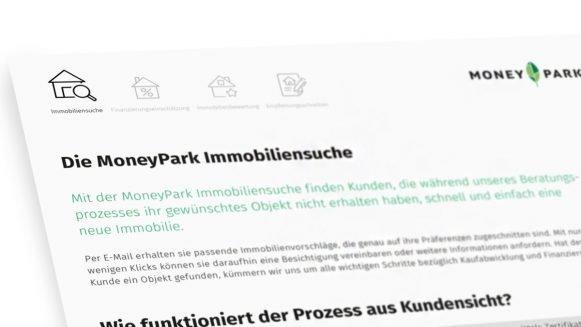 Die MoneyPark Immobiliensuche