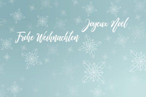 Nous vous souhaitons de Joyeuses Fêtes et une bonne santé pour la nouvelle année
