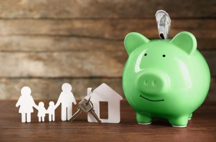 piggy bank key house family shutterstock 356667515 edit x