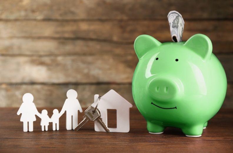 piggy bank key house family shutterstock 356667515 edit x