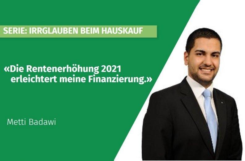 Rentenerhöhung 2021 - Erleichterung für meine Eigenheimfinanzierung?
